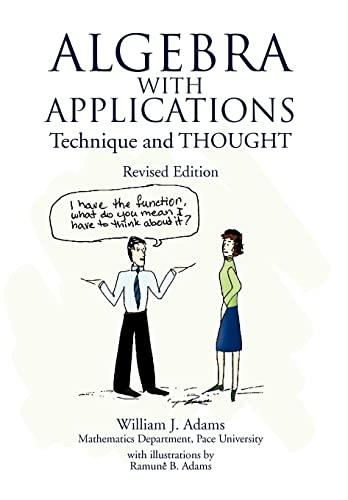 Algebra with Applications (1436301793) by William J. Adams
