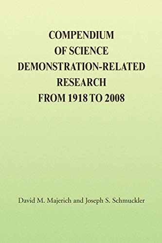 9781436334372: COMPENDIUM OF SCIENCE DEMONSTRATION-RELATED RESEARCH FROM 1918 TO 2008