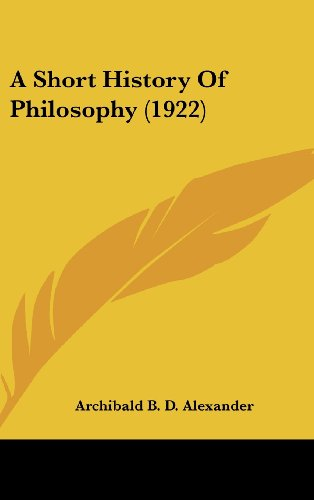 9781436550550: A Short History Of Philosophy (1922)