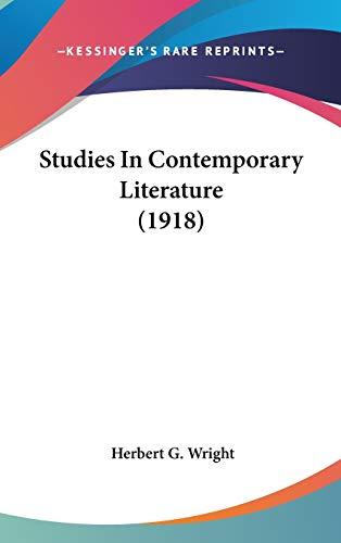 9781436577137: Studies In Contemporary Literature (1918)