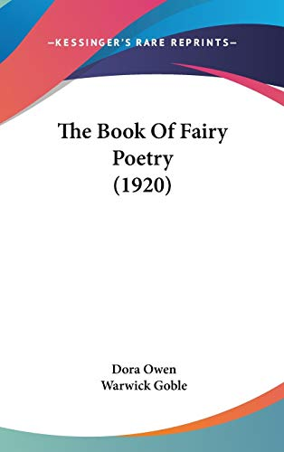 9781436606318: The Book of Fairy Poetry (1920)