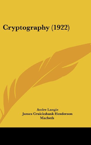 9781436630696: Cryptography (1922)