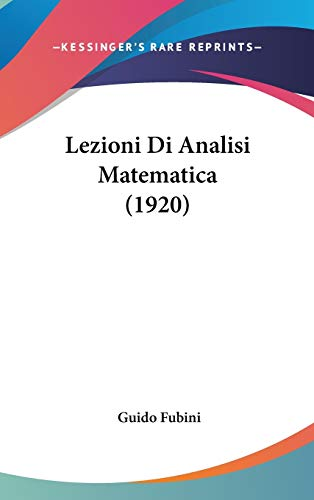 9781436665964: Lezioni Di Analisi Matematica (1920)