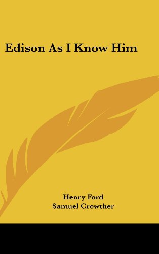 9781436684835: Edison As I Know Him
