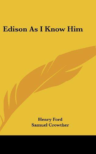 9781436684835: Edison As I Know Him