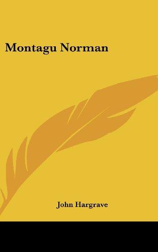 9781436703550: Montagu Norman