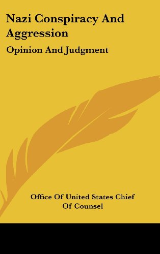 9781436711708: Nazi Conspiracy and Aggression: Opinion and Judgment
