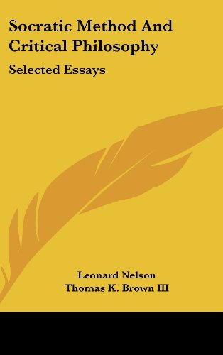 9781436715300: Socratic Method and Critical Philosophy: Selected Essays