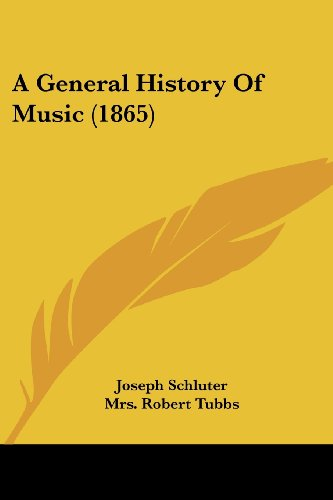 9781436728546: A General History Of Music (1865)