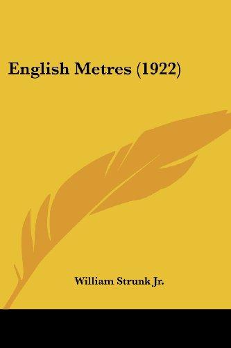 9781436835961: English Metres (1922)