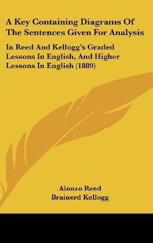 9781436898362: A Key Containing Diagrams Of The Sentences Given For Analysis: In Reed And Kellogg's Graded Lessons In English, And Higher Lessons In English (1889)