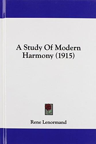 9781436906890: A Study Of Modern Harmony (1915)