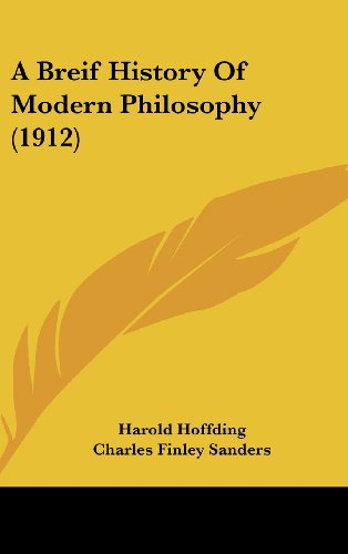 9781436977333: A Breif History Of Modern Philosophy (1912)