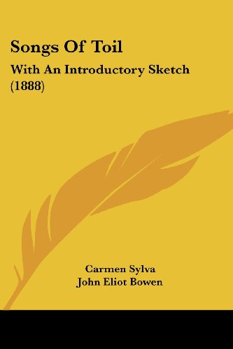 9781437055283: Songs Of Toil: With An Introductory Sketch (1888)