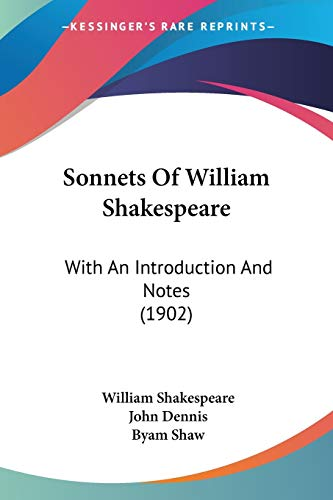 9781437075519: Sonnets Of William Shakespeare: With An Introduction And Notes (1902)