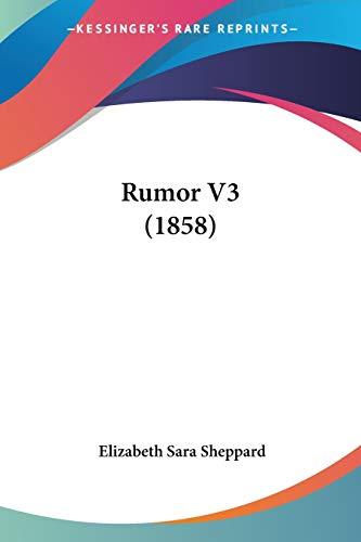Rumor V3: Elizabeth Sara Sheppard
