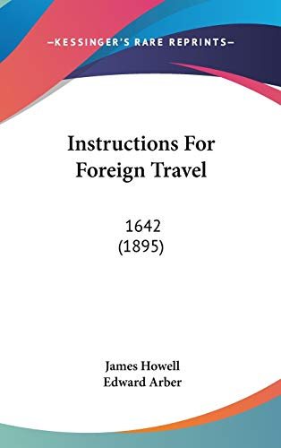 9781437177640 Instructions For Foreign Travel 1642 1895
