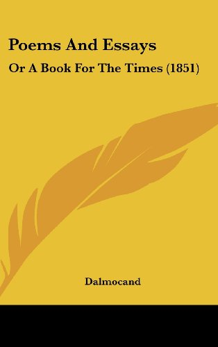 9781437183924: Poems and Essays: Or a Book for the Times (1851)