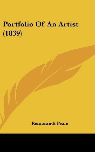 9781437225785: Portfolio Of An Artist (1839)