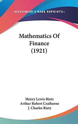 9781437235166: Mathematics Of Finance (1921)