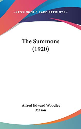 9781437398335: The Summons (1920)
