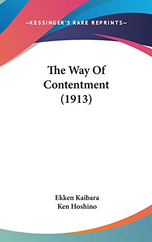 9781437423730: The Way of Contentment (1913)