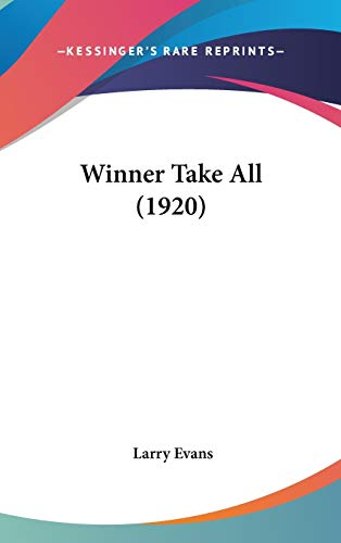 9781437431575: Winner Take All (1920)