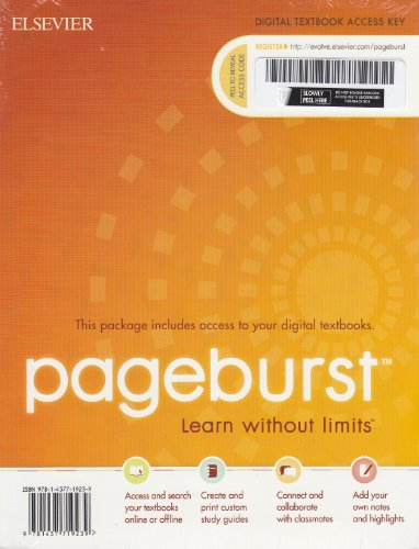 9781437719239: Pageburst - Learn Without Limits (Digital Textbook)