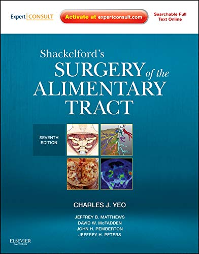 9781437722062: Shackelford's Surgery of the Alimentary Tract - 2 Volume Set: Expert Consult - Online and Print, 7e