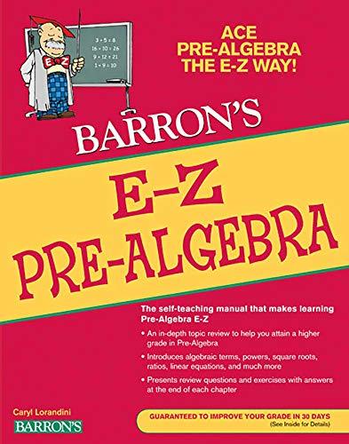 E-Z Pre-algebra (Paperback): Caryl Lorandini