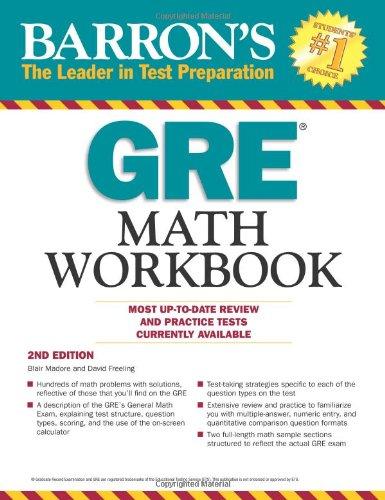 9781438000251: Barron's GRE Math Workbook, 2nd Edition