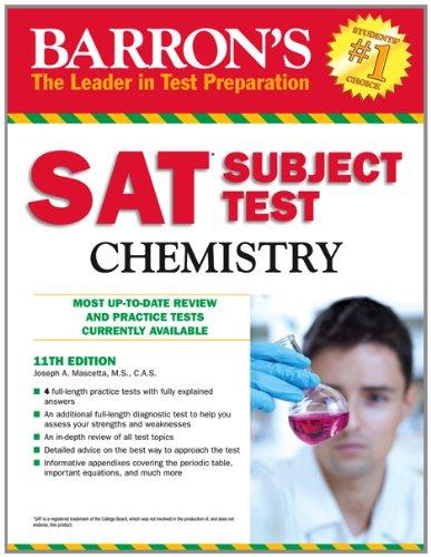 9781438000299: Barron's SAT Subject Test Chemistry, 11th Edition