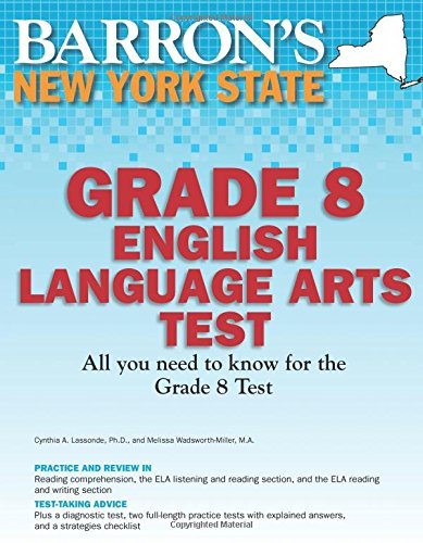 9781438000367: Barron's New York State Grade 8 English Language Arts Test (Barron's Let's Prepare for the Grade 8 Language Arts Test)