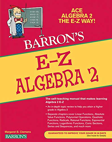 E-Z Algebra 2 (Barron's E-Z) (E-Z Series): Margaret Clemens