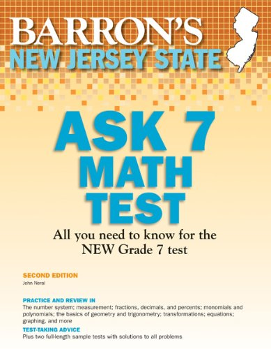 9781438000510: New Jersey ASK 7 Math Test, 2nd Edition (Barron's New Jersey Ask7 Math Test)