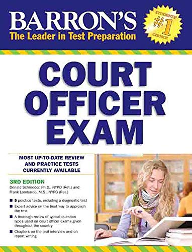 9781438001050: Barron's Court Officer Exam, 3rd Edition