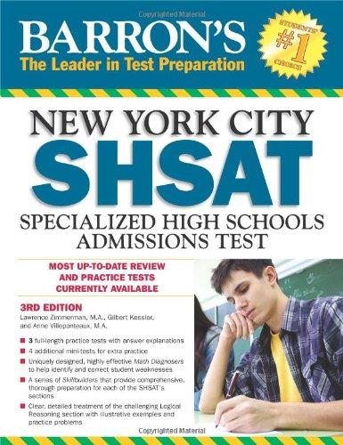 9781438001364: Barron's New York City SHSAT: Specialized High Schools Admissions Test (Barron's SHSAT)
