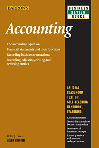Accounting (Barron's Business Review Series) (143800138X) by Eisen, Peter J.