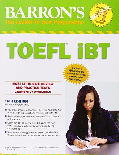 9781438001562: Barron's TOEFL iBT, 14th Edition