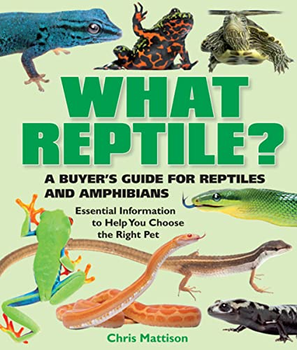 What Reptile?: A Buyer's Guide for Reptiles and Amphibians: Mattison, Chris