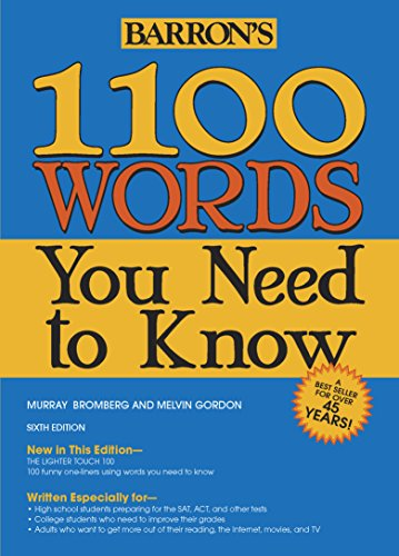 1100 Words You Need to Know (Barron's: Murray Bromberg,Melvin Gordon