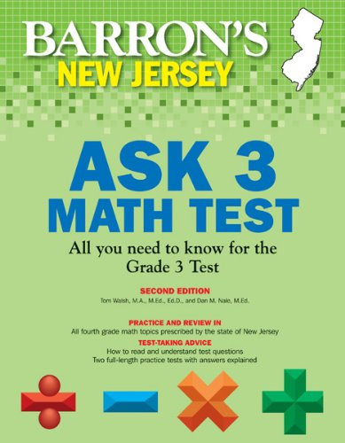 9781438001913: Barron's New Jersey ASK 3 Math Test, 2nd Edition