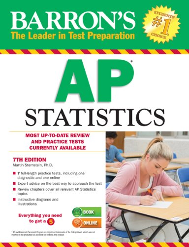 9781438002026: Barron's AP Statistics, 7th Edition