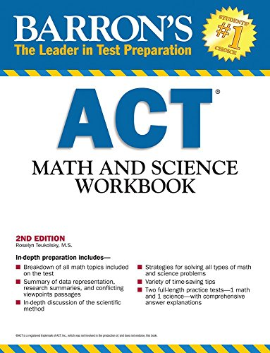 9781438002224: Barron's ACT Math and Science Workbook, 2nd Edition (Barron's Act Math & Science Workbook)