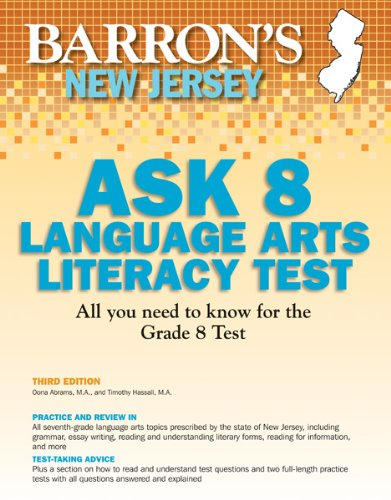 Barrons New Jersey Ask 8 Language Arts Literacy Test, 3rd Edition