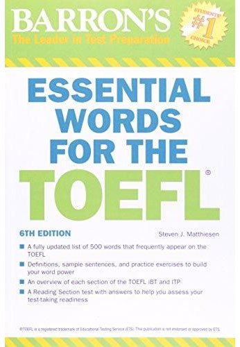 9781438002965: Barron's Essential Words for the TOEFL