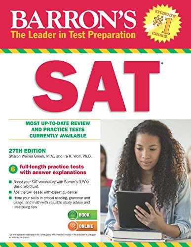 9781438003672: Barrons SAT with CD study guide, 27th Edition (Barron's Sat (Book Only))