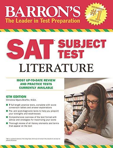 9781438003696: Barron's SAT Subject Test Literature, 6th Edition