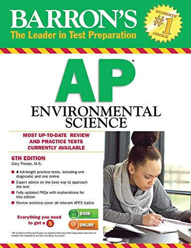 9781438005522: Barron's AP Environmental Science, 6th Edition