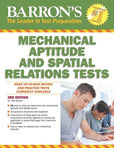 9781438005706: Barron's Mechanical Aptitude and Spatial Relations Test, 3rd Edition (Barron's Mechanical Aptitude & Spatial Relations Test)